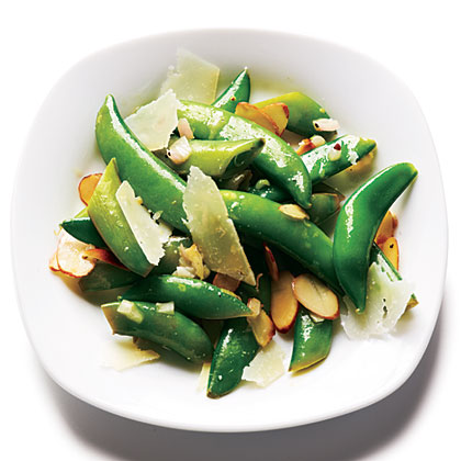 Toasted Almond and Pecorino Snap Peas