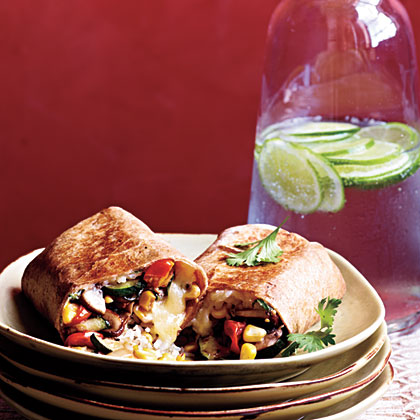 Vegetable and Rice Burritos with Quesadilla CheeseRecipe