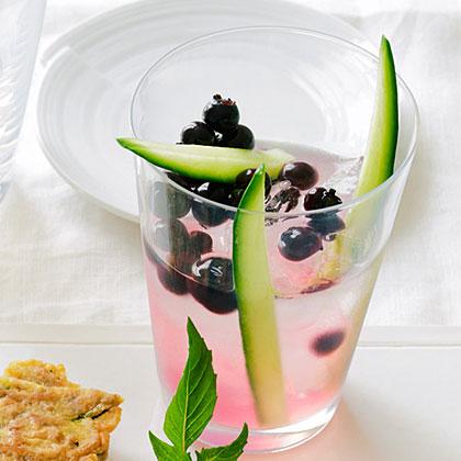 Cucumber, Soju, and Blueberry Shrub CocktailRecipe