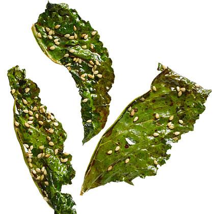 Soy and Sesame Kale ChipsRecipe
