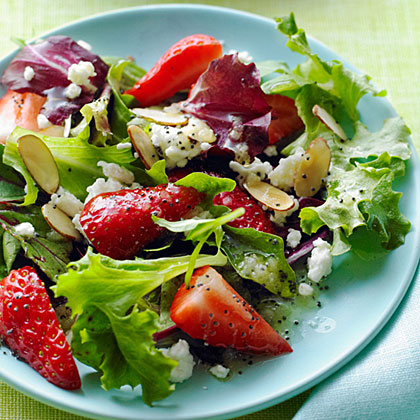 Strawberry Salad with Poppy Seed Dressing Recipe | MyRecipes.com