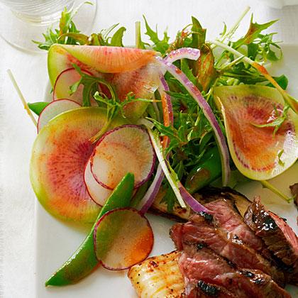 Summer Radish Salad with Sweet Chili Vinaigrette