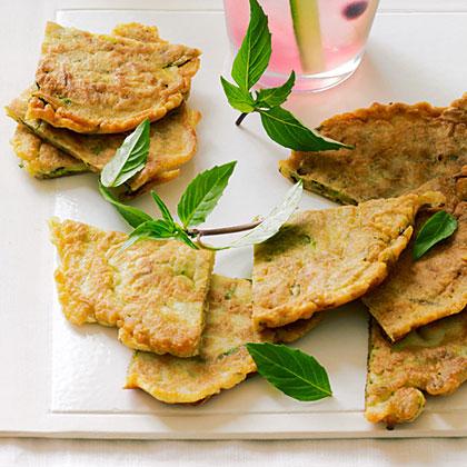 Zucchini and Thai Basil Pancakes