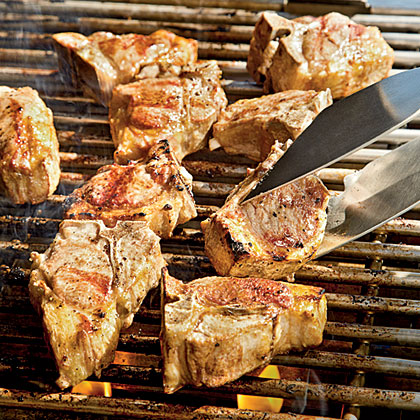 Grilled Lamb Chops with Romesco Sauce