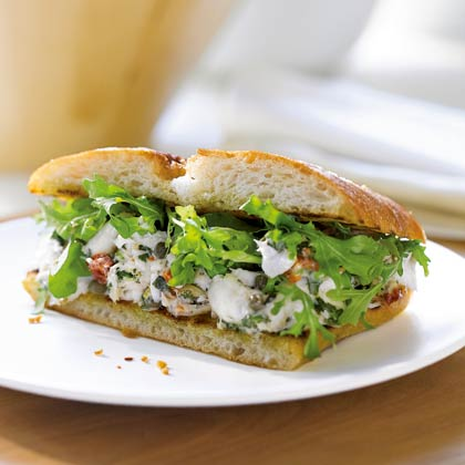 <p>Mediterranean Halibut Sandwiches</p>