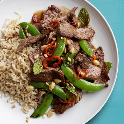 <p>Thai Spring Beef Stir-Fry</p>