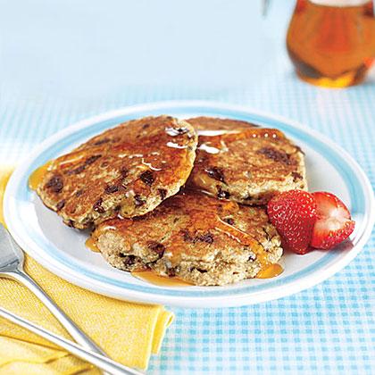 Multigrain Chocolate Chip Pancakes