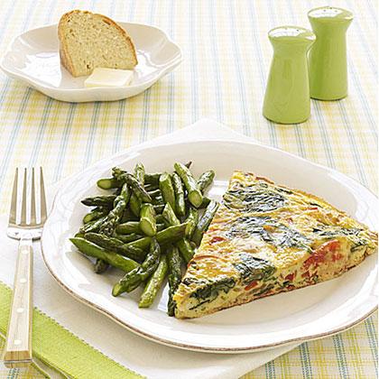 Salmon-Spinach Frittata Recipe