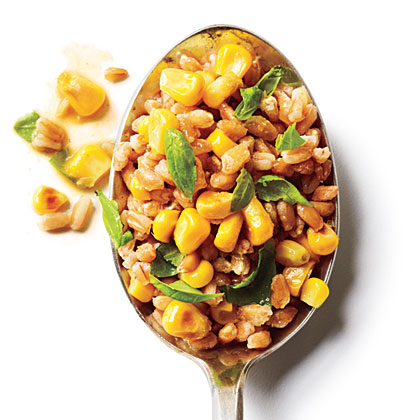 Basil and Corn Farro SaladRecipe