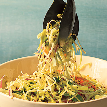Cabbage Slaw with Tangy Mustard Seed Dressing Recipe | MyRecipes