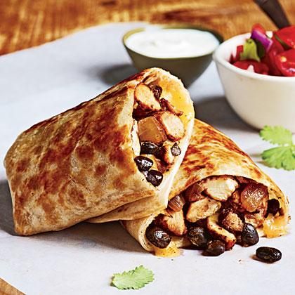 Chicken and Bean Burritos