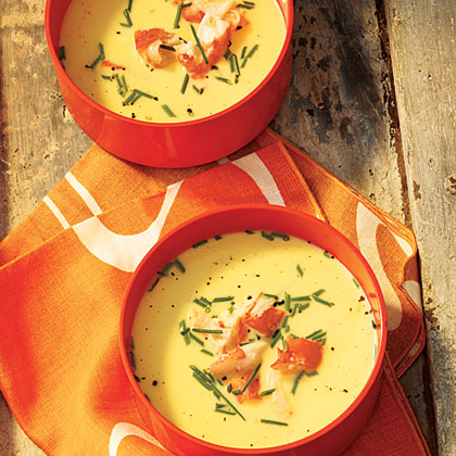 Chilled Fresh Corn Soup with King CrabRecipe