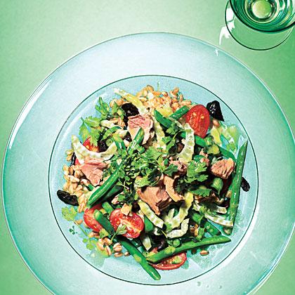Farro, Green Bean, and Fennel Salad with Tuna