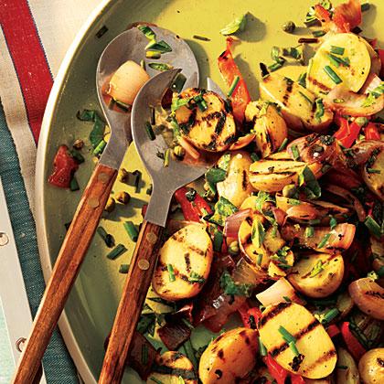 Lemony Grilled Potato Salad Recipe