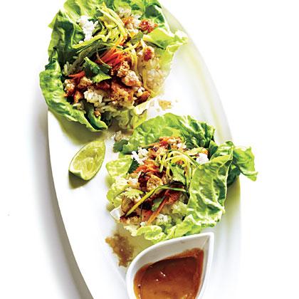 Lettuce Wraps with Hoisin-Peanut SauceRecipe