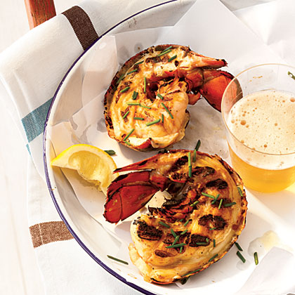 Grilled Maine Lobster Tails with Miso Butter