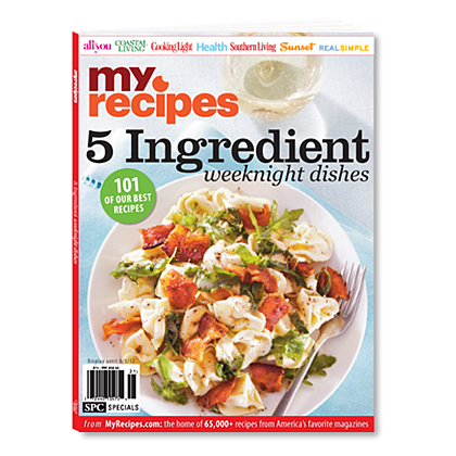 MyRecipes 5 Ingredient Weeknight Dishes Cover