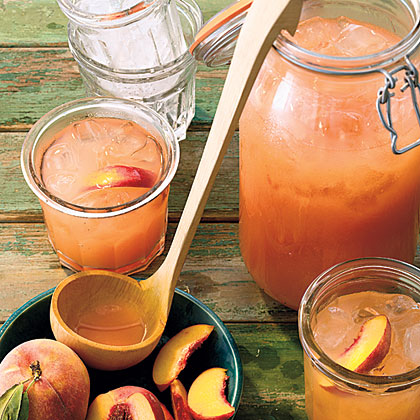 Peaches add sweet, mellow roundness to traditional lemonade for a refreshing summertime beverage. Stir in white rum or bourbon for the grown-ups.Peach Lemonade Recipe