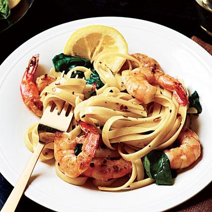 Shrimp Florentine Pasta