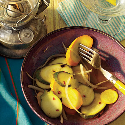 Spicy Squash Pickles