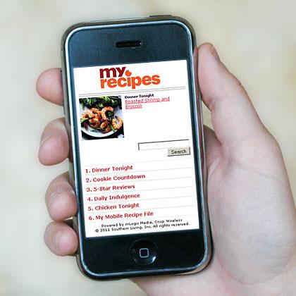 MyRecipes.com Is Mobile