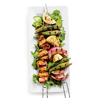 Grilled Chicken-Vegetable Kabobs