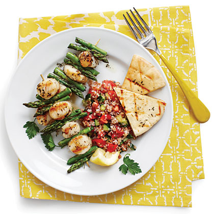 Grilled Scallop Kabobs