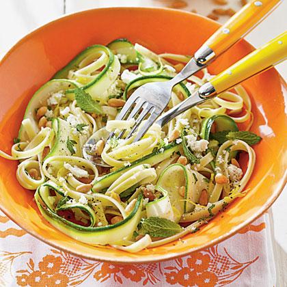 Fresh Pasta and Zucchini with Ricotta SalataRecipe