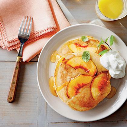 Sweet Peach PancakesRecipe