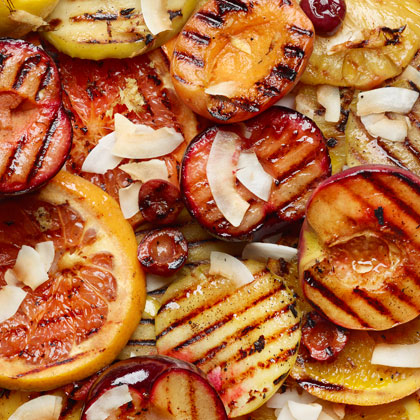 <p>Ginger Grilled Fruit</p>