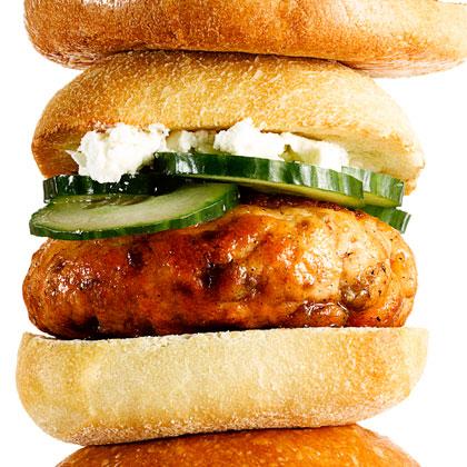 <p>Greek Salmon Burgers</p>
