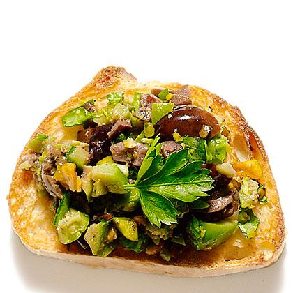 Olive and Pistachio Bruschetta Recipe