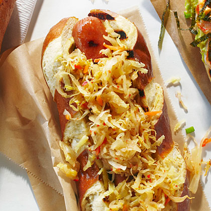 The Artisan Hot Dog RecipeEverything about this dog is conscientiously crafted by independent producers, from the nitrate-free dogs to the naturally cultured small-batch kraut and the artisan gouda cheese.