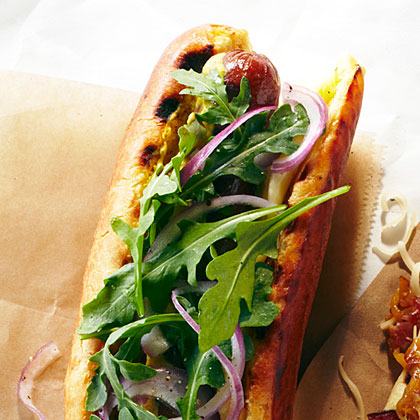 The Tech Billionaire Hot Dog RecipeThis is the kind of hot dog that a tech giant might crave, right after cashing in on the IPO: a luxury combo of Kobe beef dogs, creamy cheese, and buttery brioche buns.
