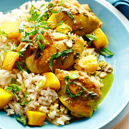 Mango Chicken over Rice