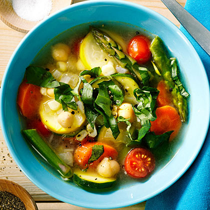 Quick Chickpea and Summer Vegetable Stew