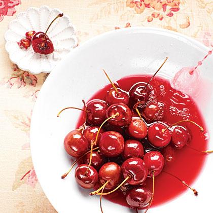 Bourbon Candied Cherries