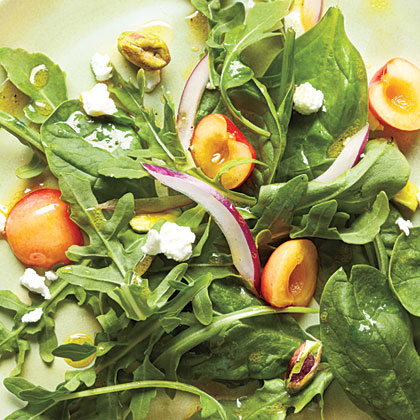 Salad with Cherries, Goat Cheese, and Pistachios Recipe
