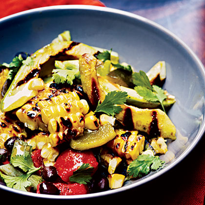 Grilled Corn, Poblano, and Black Bean SaladRecipe