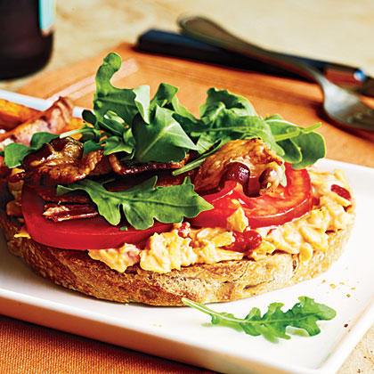 Open-Faced Pimiento Cheese BLTs