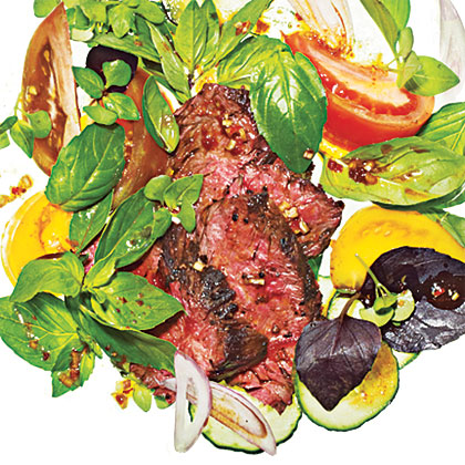 Spicy Basil-Beef Salad