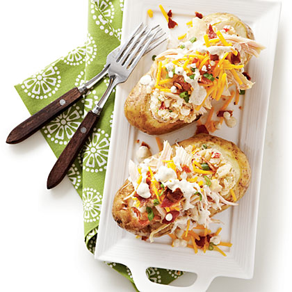 Potato Salad-Stuffed Spuds with Smoked ChickenRecipe