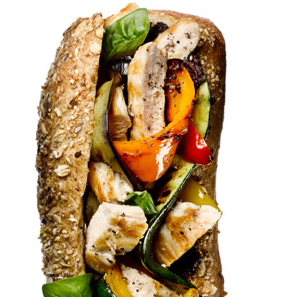 <p>Grilled Chicken and Vegetable Hero</p>