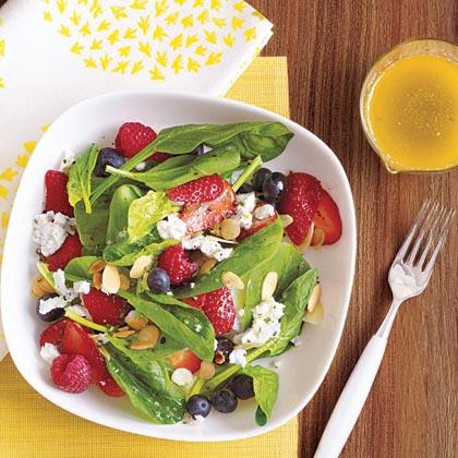Summer Berry Salad with Lime-Basil Vinaigrette