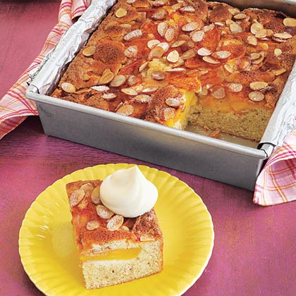 Buttermilk Peach-Almond Cake