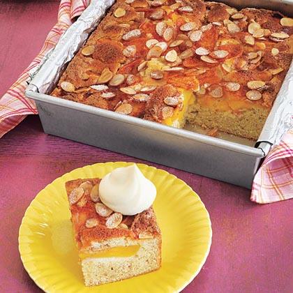 Buttermilk Peach-Almond Cake