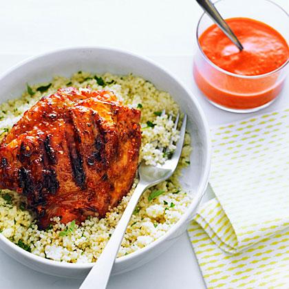Cashew Romesco Chicken ThighsRecipe