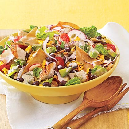 Chopped Chicken Taco Salad with Chipotle DressingRecipe