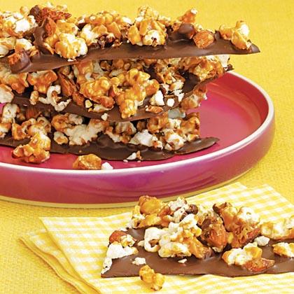 Chocolate-Popcorn Bark Recipe