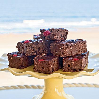 Dark Chocolate-Raspberry Breakfast Bars Recipe